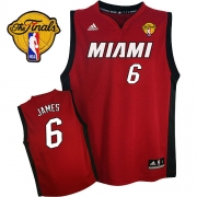 Adidas LeBron James Miami Heat Youth Alternate Swingman With Finals Patch Jersey - Red
