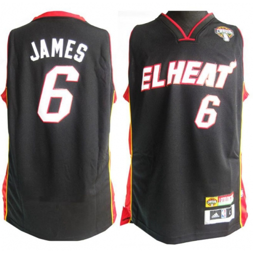 big sale 476af f4b4f LeBron James Authentic Latin Nights Jersey - Black Adidas ...
