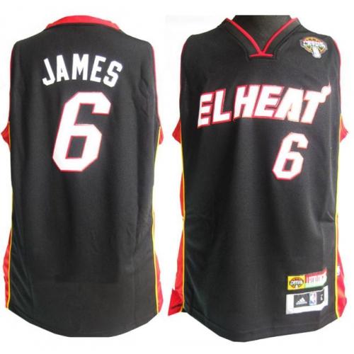 big sale ac875 d9943 LeBron James Authentic Latin Nights Jersey - Black Adidas ...