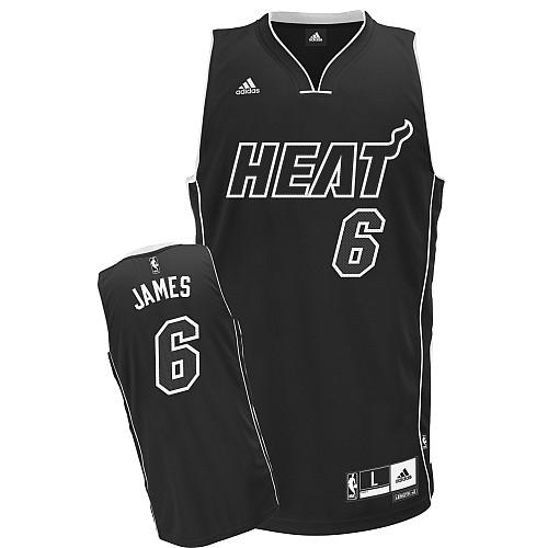 promo code bebc5 b9fb8 Adidas LeBron James Miami Heat Swingman Jersey - Black Shadow