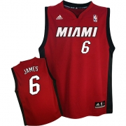 Adidas LeBron James Miami Heat Youth Alternate Authentic Jersey - Red