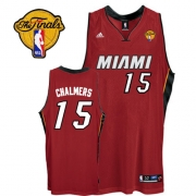 Adidas Mario Chalmers Miami Heat Swingman Alternate With Finals Patch Jersey - Red