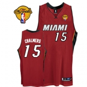 Adidas Mario Chalmers Miami Heat Authentic Alternate With Finals Patch Jersey - Red