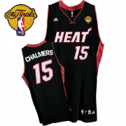Adidas Mario Chalmers Miami Heat Swingman Road With Finals Patch Jersey - Black