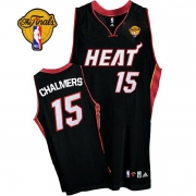 Adidas Mario Chalmers Miami Heat Authentic Road With Finals Patch Jersey - Black