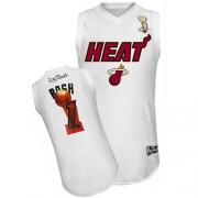 Adidas Chris Bosh Miami Heat Swingman 2012 Finals Jersey - White