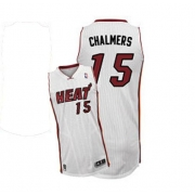 Adidas Mario Chalmers Miami Heat Authentic Home Revolution 30 Jersey - White