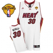 Adidas Michael Beasley Miami Heat Home Swingman With Finals Patch Jersey - White