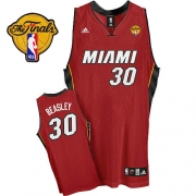 Adidas Michael Beasley Miami Heat Alternate Swingman With Finals Patch Jersey - Red