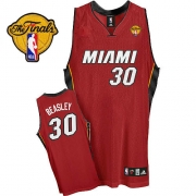 Adidas Michael Beasley Miami Heat Alternate Authentic With Finals Patch Jersey - Red