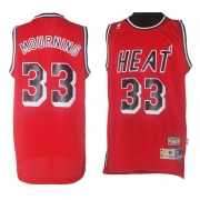 Adidas Alonzo Mourning Miami Heat Authentic Alternate Throwback Jersey - Red