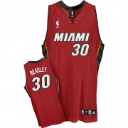 Adidas Michael Beasley Miami Heat Alternate Authentic Jersey - Red