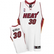 Adidas Michael Beasley Miami Heat Home Authentic Jersey - White