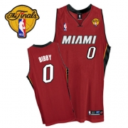 Adidas Mike Bibby Miami Heat 0 Authentic Alternate With Finals Patch Jersey - Red