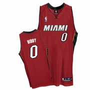 Adidas Mike Bibby Miami Heat 0 Authentic Alternate Jersey - Red