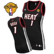 Adidas Chris Bosh Miami Heat Swingman Womens Road With Finals Patch Jersey - Black