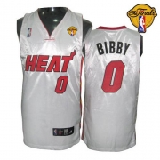 Adidas Mike Bibby Miami Heat 0 Home Swingman With Finals Patch Jersey - White