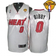 Adidas Mike Bibby Miami Heat 0 Home Authentic With Finals Patch Jersey - White