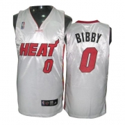 Adidas Mike Bibby Miami Heat 0 Home Authentic Jersey - White