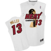 Adidas Mike Miller Miami Heat Authentic 2012 Finals Champions Jersey - White