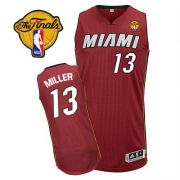 Adidas Mike Miller Miami Heat Authentic Alternate Revolution 30 With Finals Patch Jersey - Red