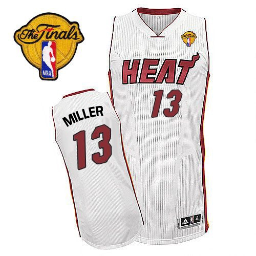 Adidas Mike Miller Miami Heat Authentic Home Revolution 30 With Finals  Patch Jersey - White 7c515d9ef