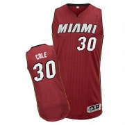 Adidas Norris Cole Miami Heat Authentic Alternate Revolution 30 Jersey - Red