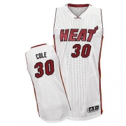 Adidas Norris Cole Miami Heat Authentic Home Revolution 30 Jersey - White