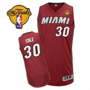Adidas Norris Cole Miami Heat Authentic Alternate Revolution 30 With Finals Patch Jersey - Red