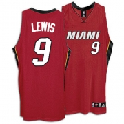 Adidas Rashard Lewis Miami Heat Alternate Authentic Jersey - Red