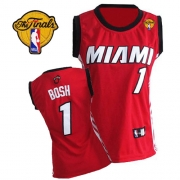 Adidas Chris Bosh Miami Heat Authentic Womens Alternate With Finals Patch Jersey - Red