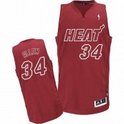 Adidas Ray Allen Miami Heat Authentic Big Color Fashion Jersey - Red