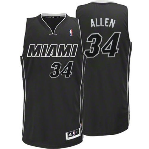 Adidas Ray Allen Miami Heat Authentic Black Revolution 30 Jersey ...