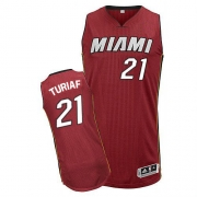Adidas Ronny Turiaf Miami Heat Authentic Alternate Revolution 30 Jersey - Red