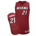 Adidas Ronny Turiaf Miami Heat Authentic Alternate Revolution 30 Jersey - Red