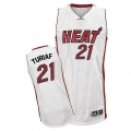 Adidas Ronny Turiaf Miami Heat Authentic Home Revolution 30 Jersey - White