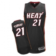 Adidas Ronny Turiaf Miami Heat Authentic Road Revolution 30 Jersey - Black