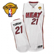 Adidas Ronny Turiaf Miami Heat Authentic Home Revolution 30 With Finals Patch Jersey - White