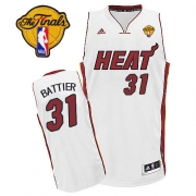 Adidas Shane Battier Miami Heat Swingman Home Revolution 30 With Finals Patch Jersey - White