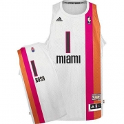 Adidas Chris Bosh Miami Heat Swingman ABA Hardwood Classic Jersey - White
