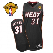 Adidas Shane Battier Miami Heat Authentic Road Revolution 30 With Finals Patch Jersey - Black