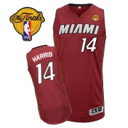 Adidas Terrel Harris Miami Heat Authentic Alternate Revolution 30 With Finals Patch Jersey - Red