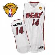 Adidas Terrel Harris Miami Heat Authentic Home Revolution 30 With Finals Patch Jersey - White