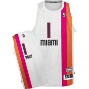 Adidas Chris Bosh Miami Heat Authentic ABA Hardwood Classic Jersey - White