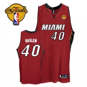 Adidas Udonis Haslem Miami Heat Authentic Alternate With Finals Patch Jersey - Red