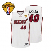 Adidas Udonis Haslem Miami Heat Authentic Home With Finals Patch Jersey - White