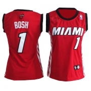 Adidas Chris Bosh Miami Heat Authentic Womens Alternate Jersey - Red