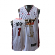 Adidas Chris Bosh Miami Heat Swingman Home 2011 Championship Jersey - White