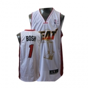 Adidas Chris Bosh Miami Heat Authentic Home 2011 Championship Jersey - White