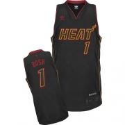 Adidas Chris Bosh Miami Heat Swingman Carbon Fiber Fashion Jersey - Black